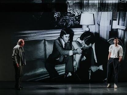 Una escena del montaje de Àlex Rigola de '23 F Anatomia d'un instant' que se puede ver en el Lliure de Gràcia.
