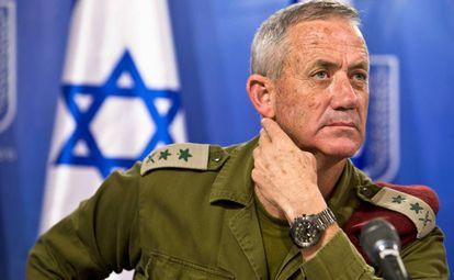 El general israelí Benny Gantz, en Tel Aviv, en julio de 2014.