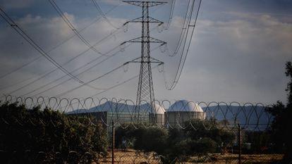 Vista de la central nuclear de Almaraz.