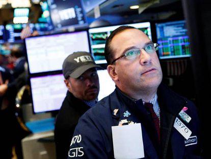 Un agente bursátil en el parqué de Wall Street