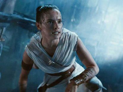 Daisy Ridley después de leer el guion de 'El ascenso de Skywalker'.