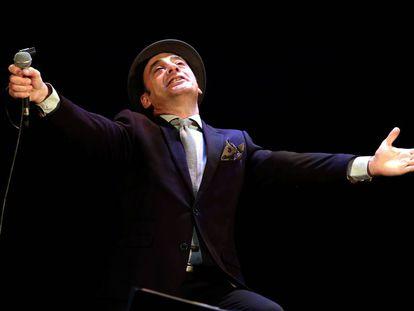 Concierto del músico Tony Zenet en el Teatro Rialto de Madrid.