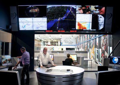 Imagen general de la Sala de Control ubicada en Alicante.
