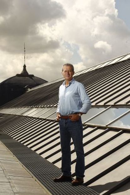 Juan Pablo Rodríguez Frade en la cubierta del Museo Arqueológico Nacional, en Madrid.