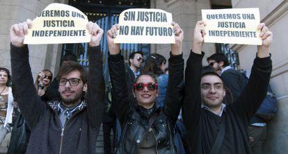 Protesta contra la reforma judicial.