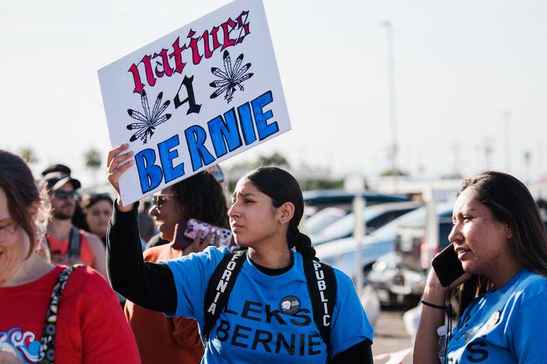 Seguidoras de Bernie Sanders en Arizona.