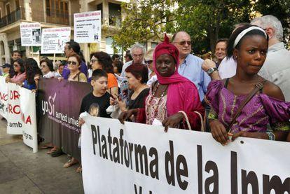 Manifestación por la sanidad gratuita universal en Valencia el pasado abril.