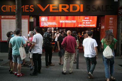 Los cines Verdi, este verano, durante el BCN Film Fest.