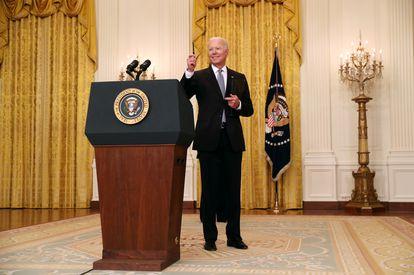 President Biden, this Monday at the White House.