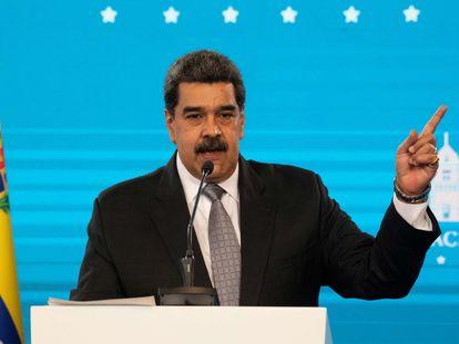 Maduro, en el Palacio de Miraflores el pasado miércoles.