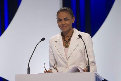 Marina sonríe durante el debate electoral del lunes.