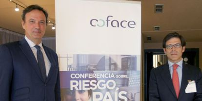 Los responsables de Coface este jueves en Bilbao.