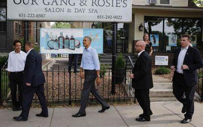 El presidente Barack Obama, que el jueves visitó  Saint Paul, la capital de Minnesota, quiere coordinar las sanciones a Rusia con la UE