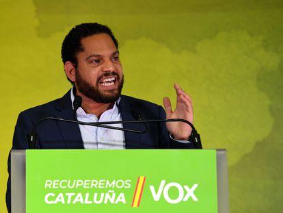 Ignacio Garriga, durante la noche electoral, este domingo.