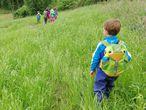 Niños de la escuela bosque Nenea, en Lugo