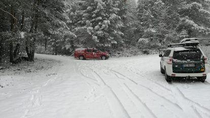 Nieve en la sierra de Madrid el pasado 16 de marzo.