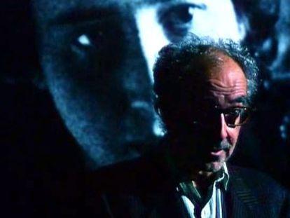 Fotograma del vídeo de ocho minutos que Jean-Luc Godard ha enviado para excusar su ausencia del festival, donde presentaba 'Adiós al lenguaje'.
