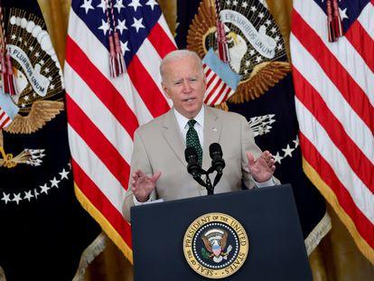 El presidente Joe Biden, el 6 de agosto en la Casa Blanca.