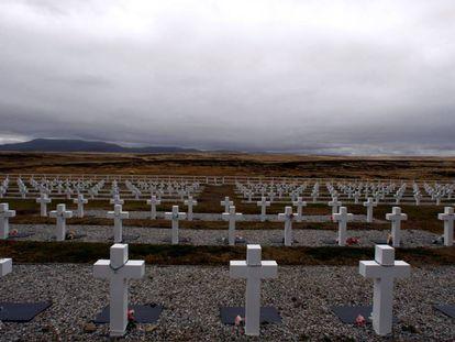 El cementerio de Darwin en las Islas Malvinas, en una foto de archivo.