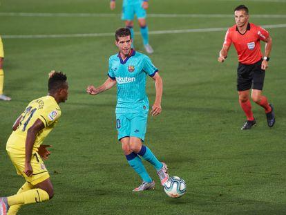 Sergi Roberto, durante el duelo ante el Villarreal.
