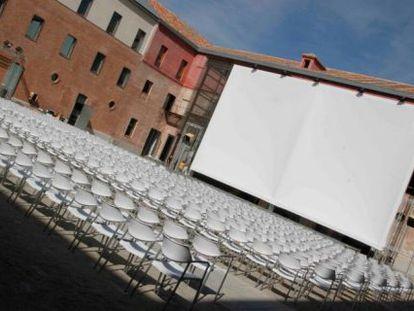 El arenero donde estaba situado un cine de verano al aire libre.