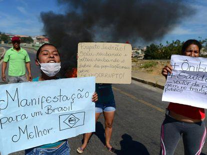 Manifestantes en Belo Horizonte.