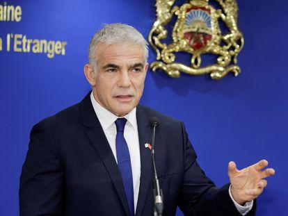 El ministro de Exteriores de Israel, Yair Lapid, el 11 de agosto en Rabat.
