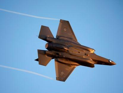 Un F-35 de la Fuerza Aérea de Israel, el pasado octubre en el sur del país.