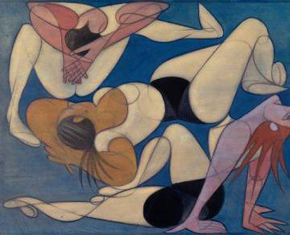 'Sin título' (1947), obra de Almada Negreiros que se puede ver en la muestra lisboeta.