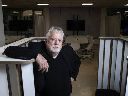 Stephen Heppell, en el espacio que ha diseñado en la Universidad Camilo José Cela.