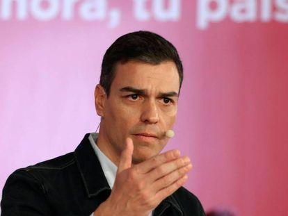El secretario general, Pedro Sánchez, interviene en su segunda Asamblea Abierta a la ciudadanía.