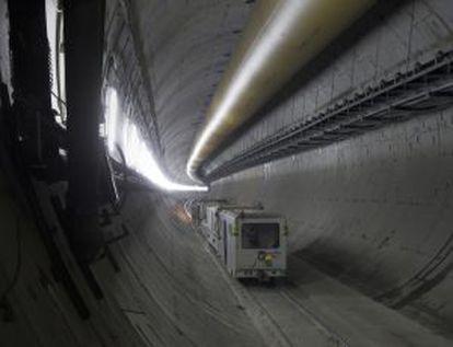 Trabajos de ampliación del túnel para el AVE en 2011