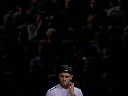 Federer, después de perder contra Goffin en el O2.