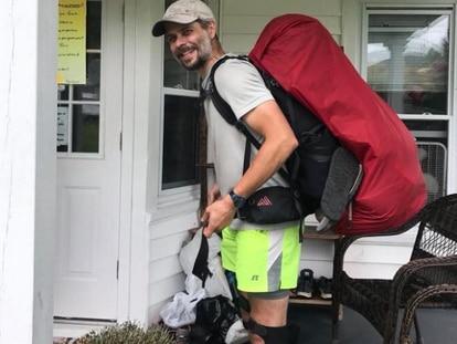 El caminante conocido como Mostly Harmless, fallecido en Florida en julio de 2018.