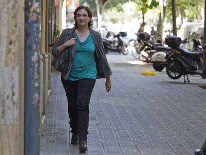 Ada Colau, al frente de la formación Barcelona en Comú.