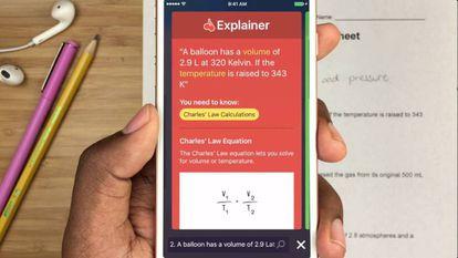 Socratic es una 'app' que ayuda a resolver problemas de matemáticas.