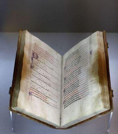 Ejemplar de 'Las Cantigas de Santa María', considerada una de las joyas del patrimonio cultural de la humanidad.
