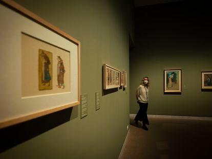 Una de las salas del Museo Picasso con las obras de la exposición actual, sobre los 17 cuadernos del pintor, el pasado mes de diciembre.