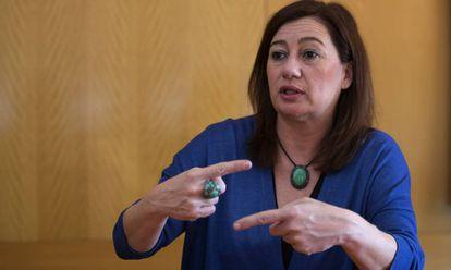 Francina Armengol, presidenta de las Islas Baleares, este jueves en EL PAÍS.