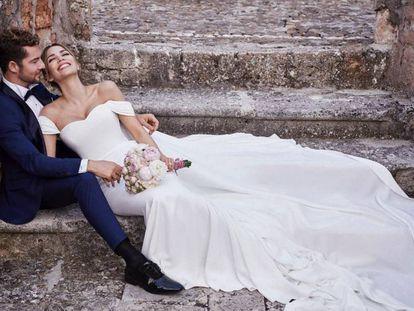 David Bisbal y Rossana Zanneti, en la imagen que ha compartido el cantante para anunciar su boda.