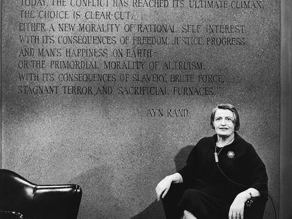 La filósofa rusa Ayn Rand.