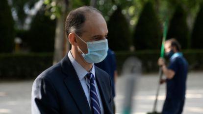 El inspector de la Policía Manuel Morocho se dirige a la Audiencia Nacional para declarar como testigo, este martes.