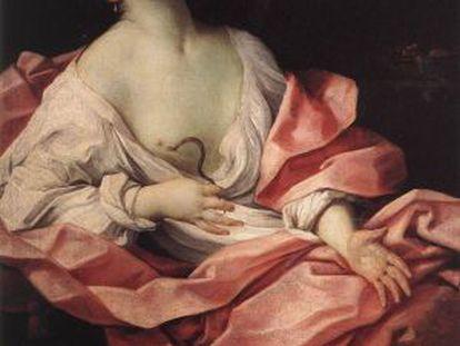 'Cleopatra con el áspid', del pintor Guido Reni. Áspid es la única palabra llana que termina con '-id'.