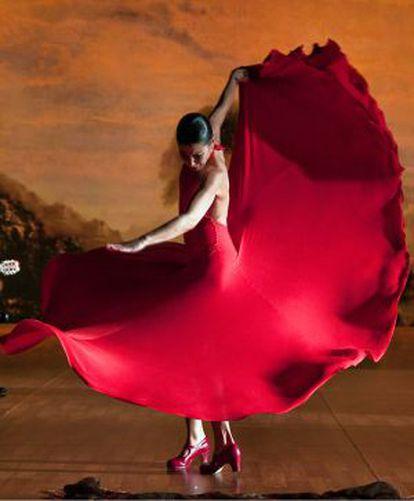 La bailaora Sara Baras en uno de sus espectáculos.