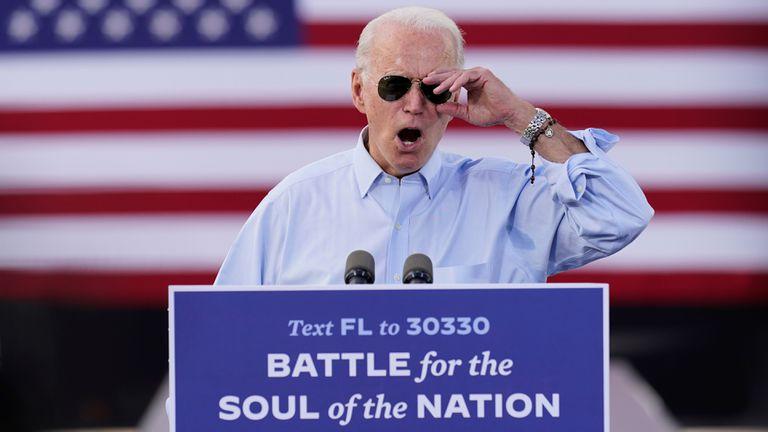 El candidato demócrata Joe Biden, este jueves en Coconut Creek, Florida.