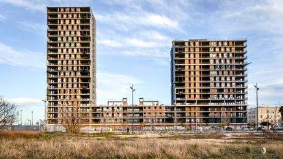 Bloques de viviendas de Sociópolis, proyecto valencianos donde se prevé la construcción de 2.900 viviendas públicas, la mayoría para alquilar.