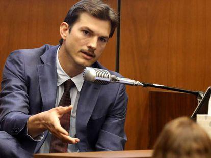 Ashton Kutcher, en el juicio contra el asesino en serie Michael Gargiulo, celebrado el miércoles en Los Ángeles.