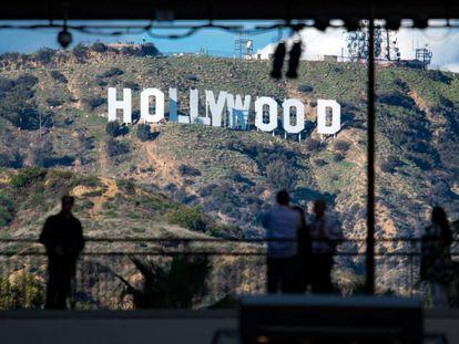 El cartel de Hollywood, situado en el Monte Lee, en Los Ángeles, California.