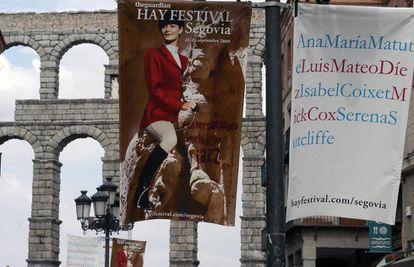 Carteles del Hay Festival en Segovia.