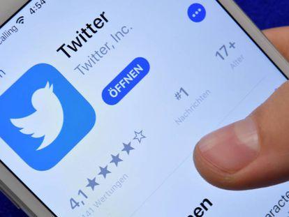Un pantallazo de Twitter en móvil.